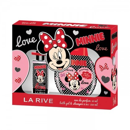 Set cadou Minnie Mouse parfum si gel de dus 2 in 1
