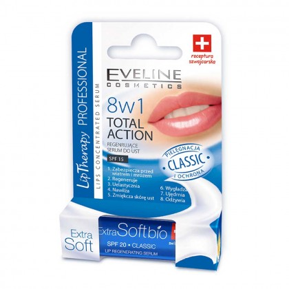 Balsam buze lip theraphy 8in1 Eveline Total Action Classic 50g