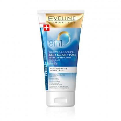 Gel + Scrub + Masca Eveline Facemed 8in1 150 ml
