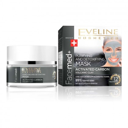 Masca purifiere si detoxifiere Eveline Facemed Volcanic Clay 50 ml